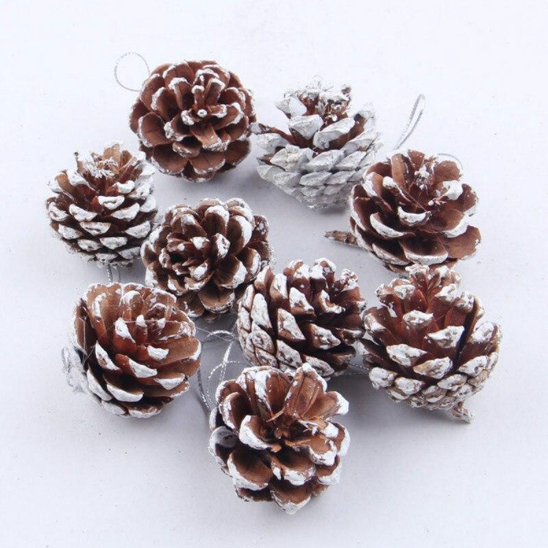 unidsset adorno del rbol de navidad bolas colgantes piones pinecone suministros de navidad