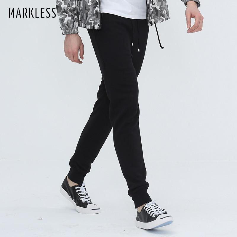 Markless Streetwear Joggers Püksiriided meestele Slim Fit Skinny Pants Fashion Casual Sarouel Homme Plus S-3XL püksid CKA4849M