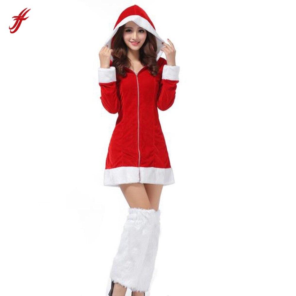 2018 damen Sexy Santa Kostüm Frauen Mrs Weihnachtsfeier Phantasie ...