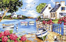Full Square/Round Drill 5D DIY Diamond Painting Seaside Brittany Embroidery Cross Stitch Mosaic Rhinestone Decor