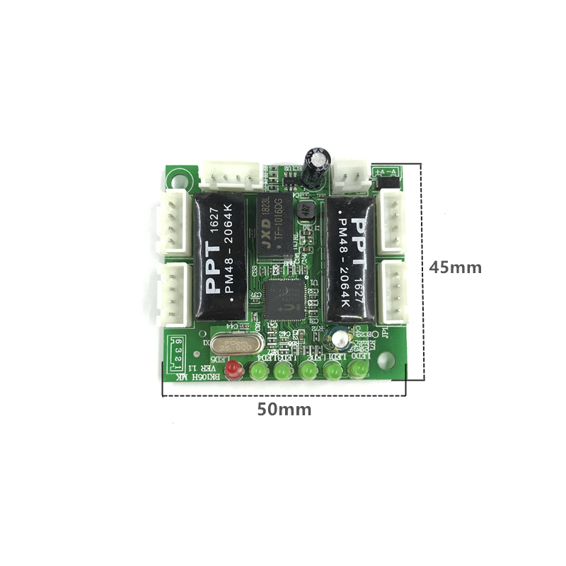 Image 3 - mini module design ethernet switch circuit board for ethernet switch module 10/100mbps 5/8 port PCBA board OEM Motherboard-in Network Switches from Computer & Office