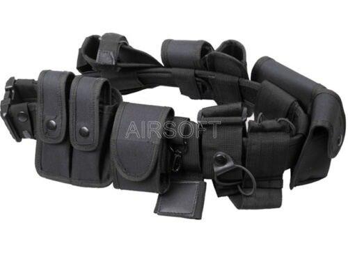 Ceinture de service de Police multifonctionnelle Airsoft ceintures tactiques d'entraînement en plein air ceintures militaires avec 10 étuis pochette de Magazine