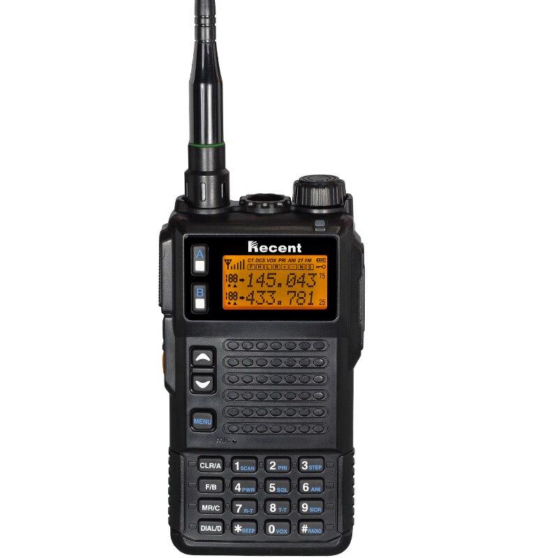 RÉCENTE Tri Bande 350-400 MHz 10 W Portable Two Way Radio Hnadheld Talkie Walkie Émetteur-Récepteur FM Avec Torche lumière Bousculade Fonction
