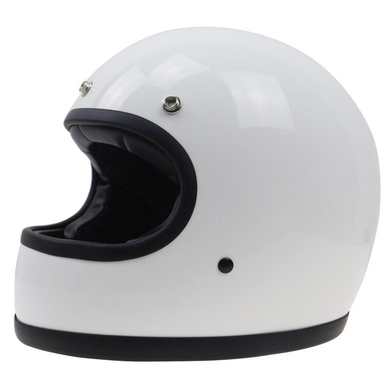 DOT approvato Handmade Retro bike helmet Cafe racer casco del motociclo di stile DD anello fibbia 3 colori disponibili Taglia Ml XL XXL