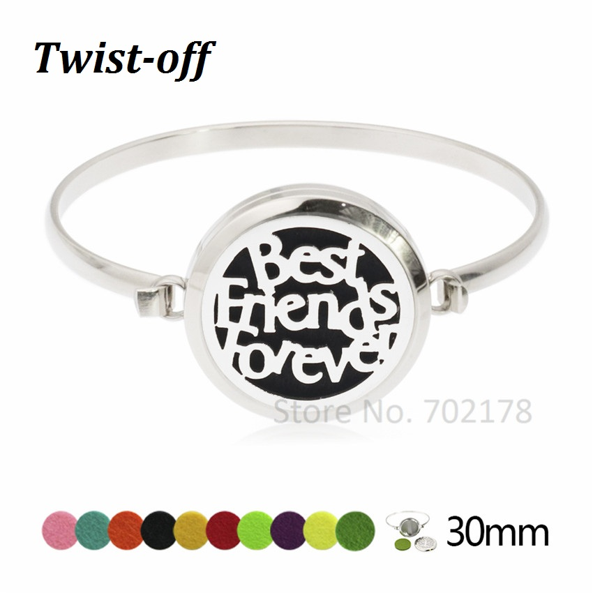 Creative 30mm Aromatherapy Essential Oil Diffuser Locket Bracelet Leather Band With 10pad Aromatherapy