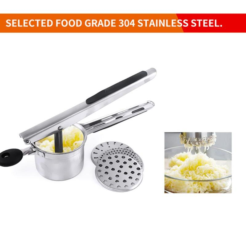 Potato Mashers Ricers Pressure Mud Puree Vegetable Fruit Press Maker Garlic Presser Stainless Steel Kitchen Cooking Tools ...