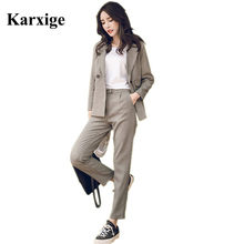 2016 Korean Fashion Leisure All match Significantly Thin Trousers Two Temperament elastic strip pants comfortable female Suit