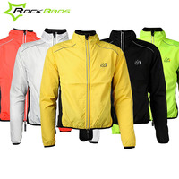 Rockbros Bike Pocket Rain Jacket Rain Protection Raincoat Jacket Reflective Mtb Rainproof Cycling Jacket Sport Running