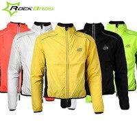 Rockbros Bike Pocket Rain Jacket Rain Protection Raincoat Jacket Reflective Mtb Rainproof Cycling Jacket Sport Running