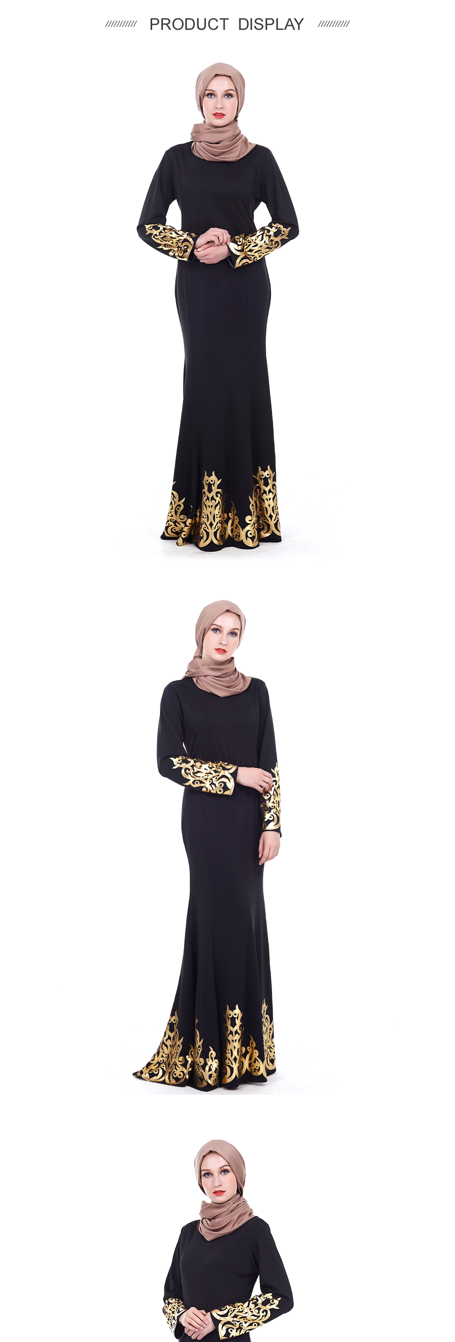 New fashion Embroidery muslim cardigans abaya