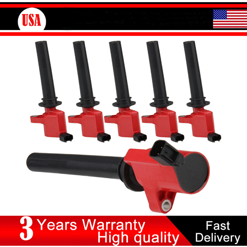 CARBOLE 6PCS HIGH PERFORMANCE IGNITION COIL FOR FORD Escape MAZDA Tribute MERCURY DG500 C1458 FD-502 1L8Z12029AB 5C1617 AJ0318