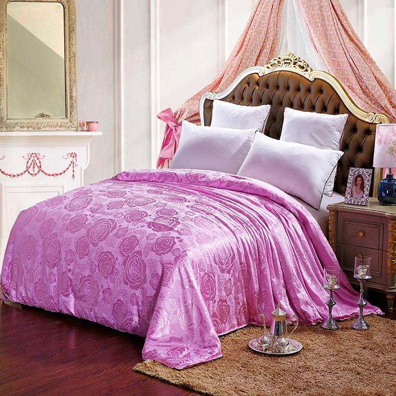 Winter Summer Silk Duvet Comforter Quilt 100% Mulberry Silk filling Spring Autumn Winter CUSTOM SIZE warm and thicker