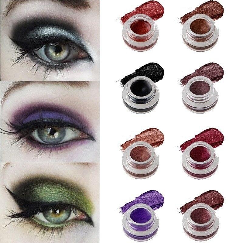 15 Color Eyeliner Cream Waterproof Long-lasting Makeup Eye Liner Gel Cosmetic Black Brown Red White Blue Tint Eyeliner Gel