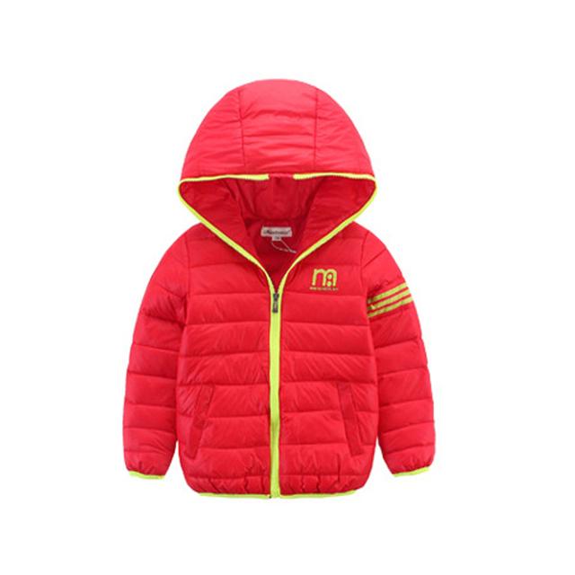 Nueva llegada 2016 años de Los Niños ropa de bebé niña niño invierno Abajo chaqueta del otoño 4 colores