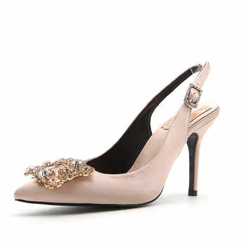 WEIQIAONA 2019 New Spring Women Shoes Pumps High Heels Elegant Buckle Rhinestone Pointed Toe Wedding Shoes Brand Design Sandals - DISCOUNT ITEM  0% OFF All Category