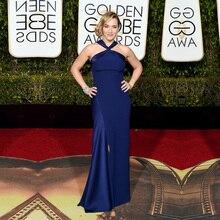 Goldene Globale Academy Awards 2016 Oscar Kleid Königsblau Meerjungfrau Red Carpet Dresses Sexy Split Promi Abend Prom Kleider OE7