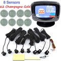 8 sensors  44 colors selection Car Parking Sensor Reverse Backup Radar Kit System with LCD Display Monitor new arrival