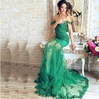 2019 красивый изумрудно зеленое на шнуровке Русалка Вечерние платья длинное вечернее платье Аппликации Прозрачный сексуальное платье для Ба