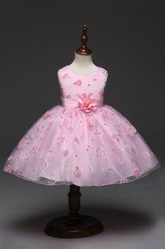 0e8632ddc91 Платья Платья для маленьких девочек модные детские принцессы платье костюм  для детей с цветочным узором для девочек праздничное платье Оде..