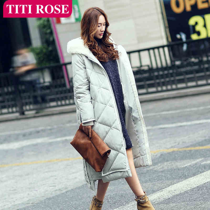 2015 New Hot Winter Thicken Warm Woman Down jacket Coat Parkas Outerwear Hooded Fur collar Simple Straight Long Plus Size Luxury 2015 new hot winter thicken warm woman down jacket coat parkas outerwear hooded loose straight luxury brand long plus size xl