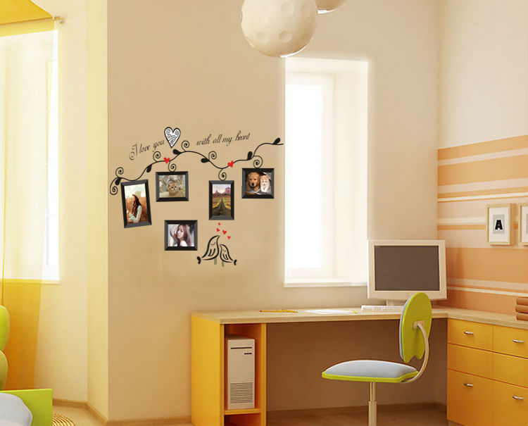 photo frame home decorative wall stickers window door glass decor ...