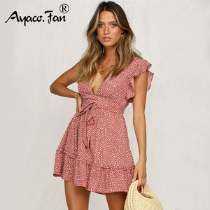 Summer Ruffles Dot Dresses 201