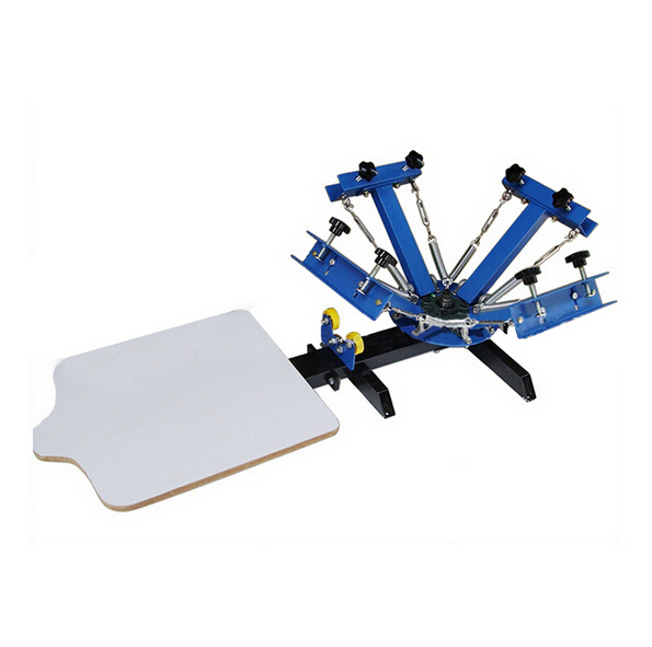 FREE shipping 4 color 1 station silk screen printing machine t-shirt printer press equipment carousel printing area 40*50CM simple screen printing machine single color silk screen press equipment