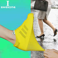 1 Pair Waterproof Shoe Cover Rubber Thicken Rain Reusable Elasticity Overshoes Anti-slip Bike Boot Protector Covers Easy Carry