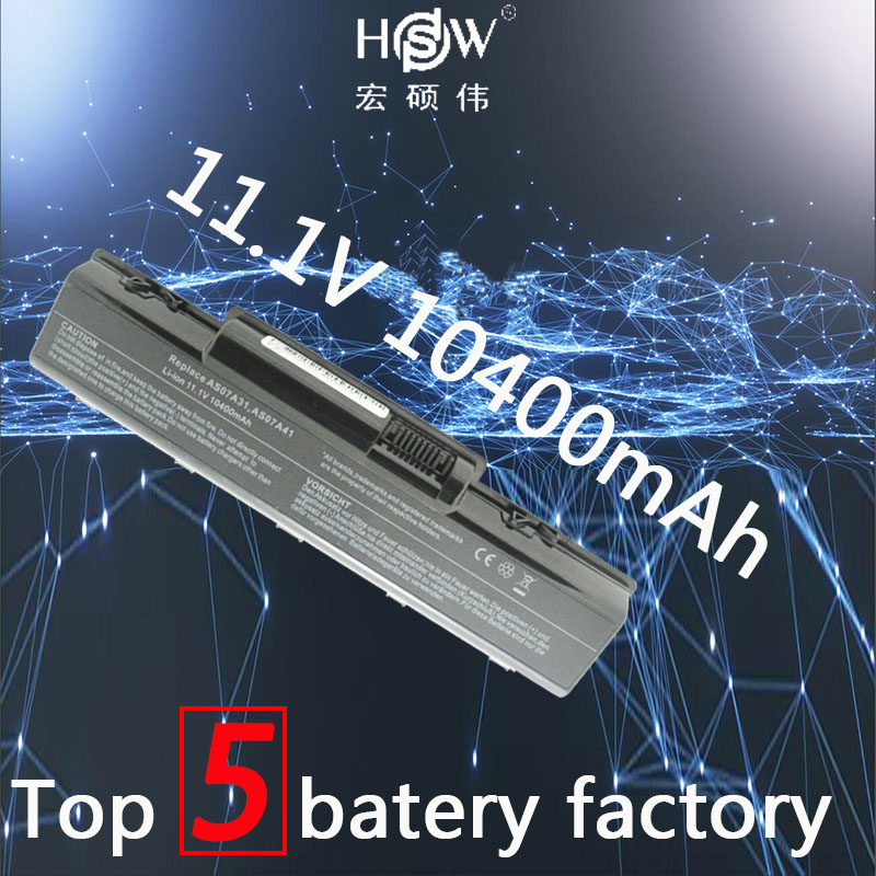 HSW 12 Cellules batterie d'ordinateur portable pour Acer Aspire 4710 4720 5335Z 5338 5536 5542 5542G 5734Z 5735 5735Z 5740G 7715Z 5737Z Bateria akku