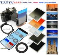 8in1 camera lens filter Kit ND 4 8 gradual grey orange blue color filter for Cokin P series SLR DSLR accessory with holder bag