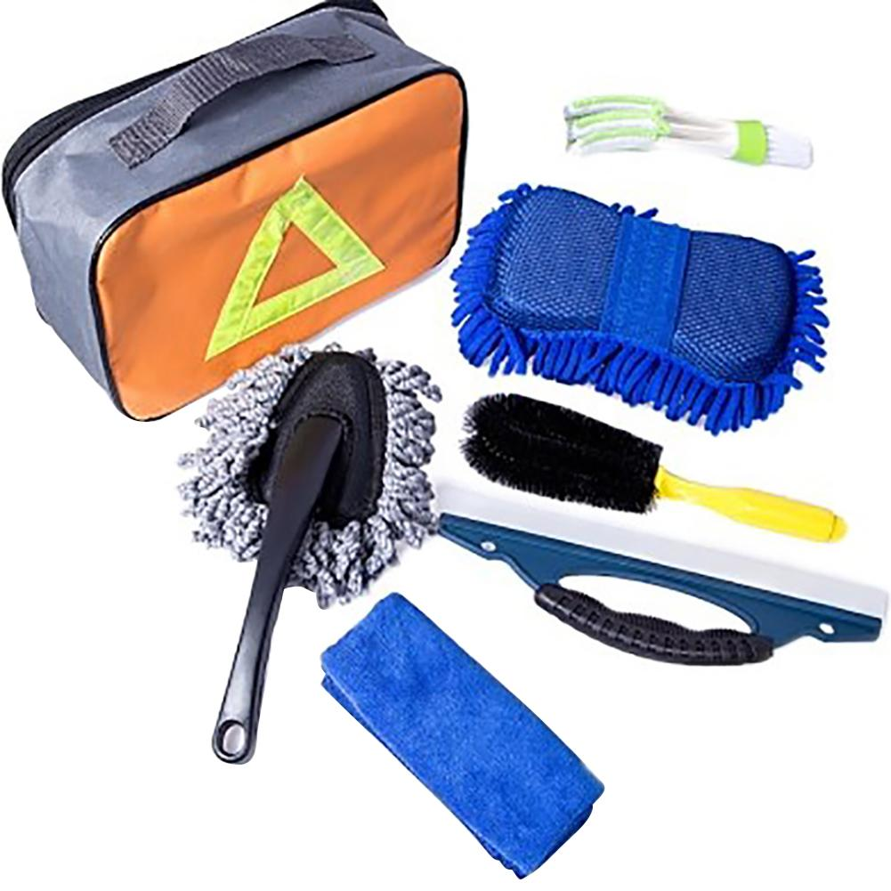 7 Stks Wasstraat Hulpmiddel Auto Reinigingsproducten Auto Wassen Cleaning Kit Auto Schoonmaakproducten Met Gift Bag Dropship 8.15 Speciale Kopen