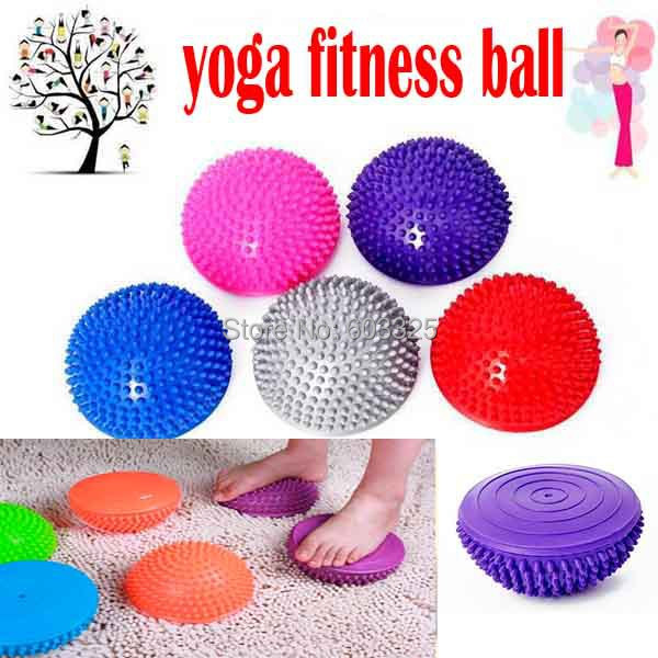 Yoga Half Ball Physical Fitness Appliance Exercise balance Ball point massage stepping stones bosu balance pods GYM YoGa Pilates effects of physical exercise on hypertension