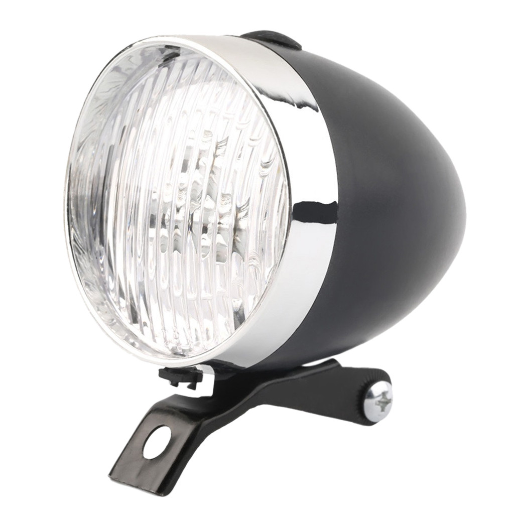 Classic200Lm Led Vintage Bike Headlight Bicycle Retro Head Light Front Fog Lamps