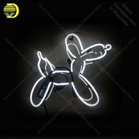 Neon Sign for Balloon Dog Neon Bulb sign art handcraft restaurant home display neon signboard wall light with clear board
