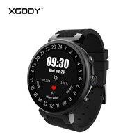 I6 XGODY Conectividade GPS À Prova D' Água Homens Relógio iOS Android Relógios Inteligentes com Cartão Sim Android 5.1 2G + 16G Pedômetro Freqüência Cardíaca