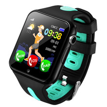 Купить с кэшбэком Children Smart Watch GPS Watches Kids Safe Monitor with Camera Support SIM /TF Dial Call Positioning Tracker for Andiord Phone