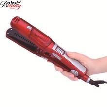 Professional 1pcs Fast Steam Hair Straighteners Iron Curlers Electric Straightening Brush Straightener Comb EU/US Plug
