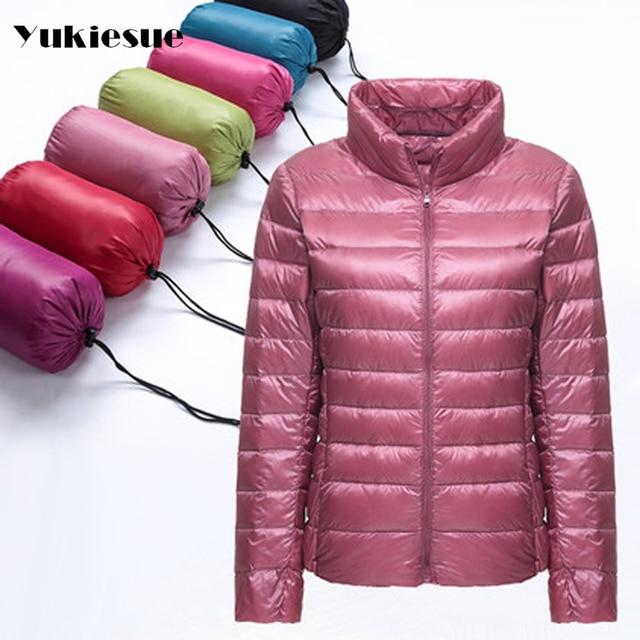61eba96b4 US $24.7 35% OFF|18 colours Down Parka 2016 Famous Brand Designer Winter  Jackets Women 90% White Duck Down Jackets Outwear light Thin Coat-in Down  ...