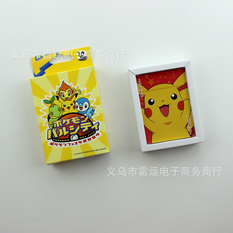 1 Piece Animation Poker Pokemon Pikachu Pictures Playing Cards Pokemon Pikachu Poker Cards Game Collection Cards playing