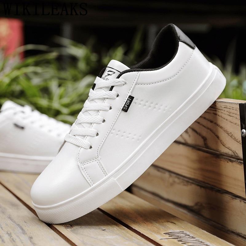 White Shoes Men Leather Mens Shoes