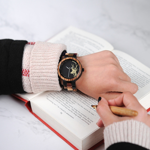 Image 3 - BOBO oiseau montre à Quartz hommes reloj mujer Elk gravure en bois femmes montres en bois boîte relogio masculino grand cadeau pour amoureux