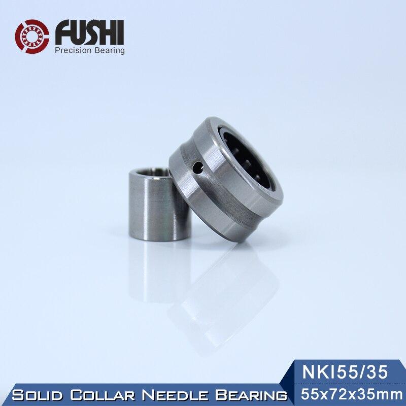 NKI55/35 Bearing 55*72*35 mm ( 1 PC ) Solid Collar Needle Roller Bearings With Inner Ring NKI 55/35 Bearing sce2020 bearing 31 75 38 1 31 75 mm 1 pc drawn cup needle roller bearings b2020 ba2020z sce 2020 bearing