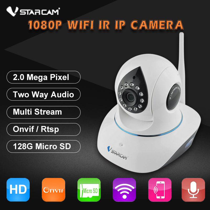 VStarcam C38S FULL HD 1080P 2.0MP Wifi IP Camera P2P Wireless PTZ Security Camera 2 Way Audio Surveillance Camera ONVIF IR Cut