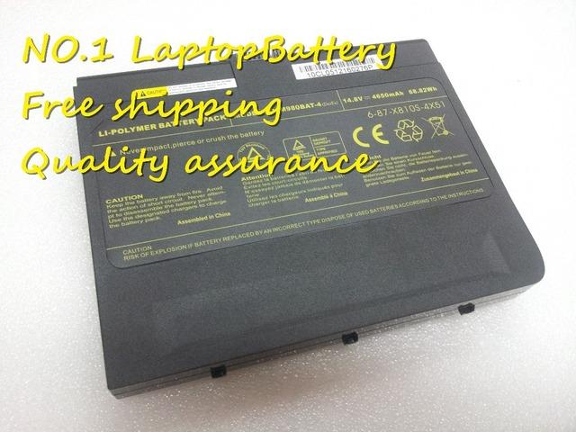 Venta caliente equipo de Reemplazo batería para Clevo X8100 M980BAT-4 6-87-X810S-4X51