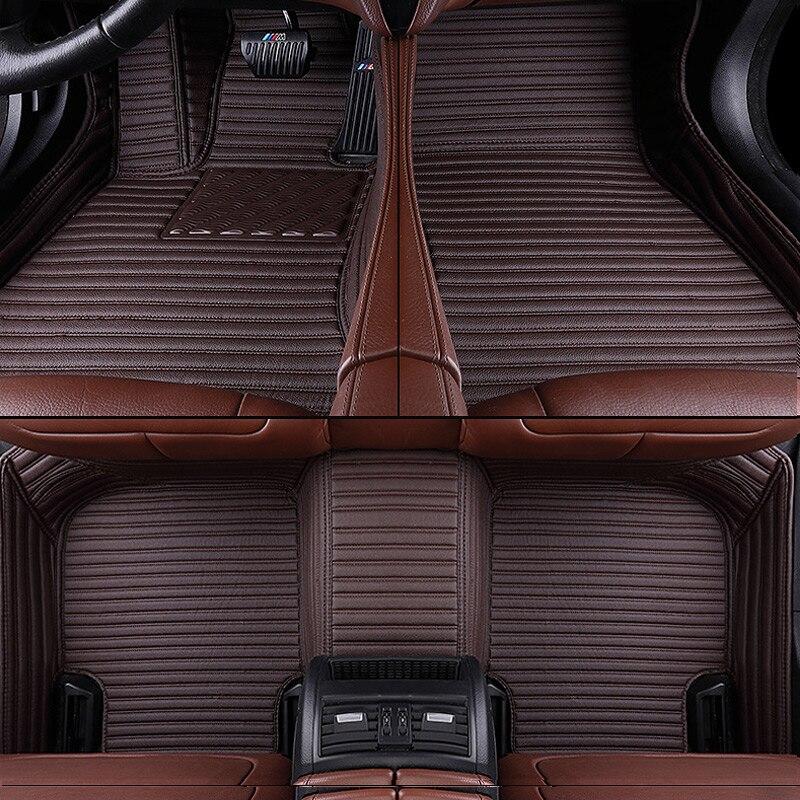 Personnalisé Aviation En Cuir tapis de sol de voiture pour Bmw X5 X6 E53 E70 2013 2014-2016 2017-18 auto coussinets tapis d'automobile