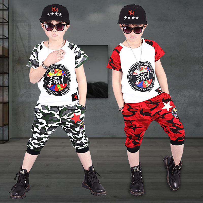 2018 New Boys Clothes Baby Set Kids Children Clothing Sets For Boys Camouflage Toddler Boys Clothing Set Summer Baby Suit Shorts 2017 new pattern small children s garment baby twinset summer motion leisure time digital vest shorts basketball suit