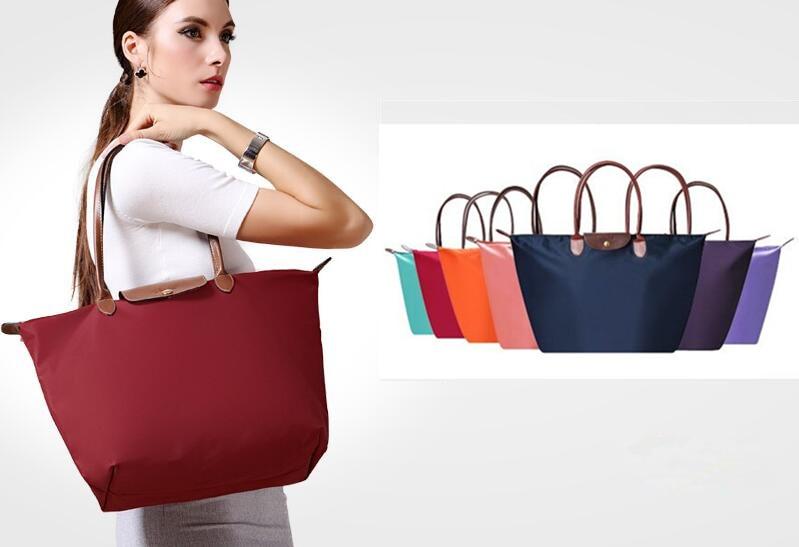 Women-Folding-long-Shoulder-champagne-Handbag-Ladies-Reusable-WaterProof-Nylon-Folding-Tote-Bags-Large-Capacious-Shopping (1)