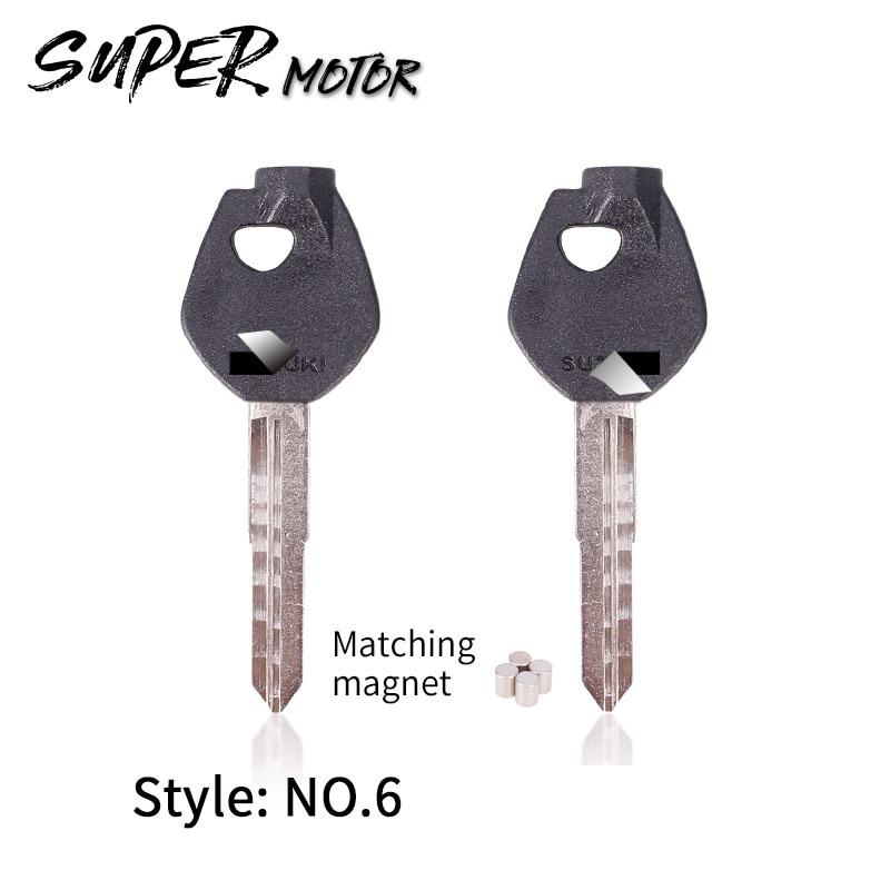Motorcycle Blade Blank Key For Suzuki Magnet Anti-theft Lock Key AN250 AN400 AN650 Burgman Magnetic Sj50 V125G V125S V50 AG50 60