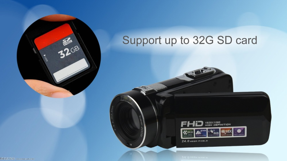 """FHD 1080P Digital Video Camera fotografica Camcorder MP 3"""" Screen External Battery Support SD Card with HDMI Output filmadora 7"""