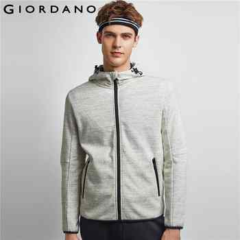 Giordano Men Jacket Men Polar Fleece Hooded Jacket Smooth Fleeced Lining Windproof Drawstring Hood Chaqueta Hombre Banded Cuffs - DISCOUNT ITEM  50% OFF All Category